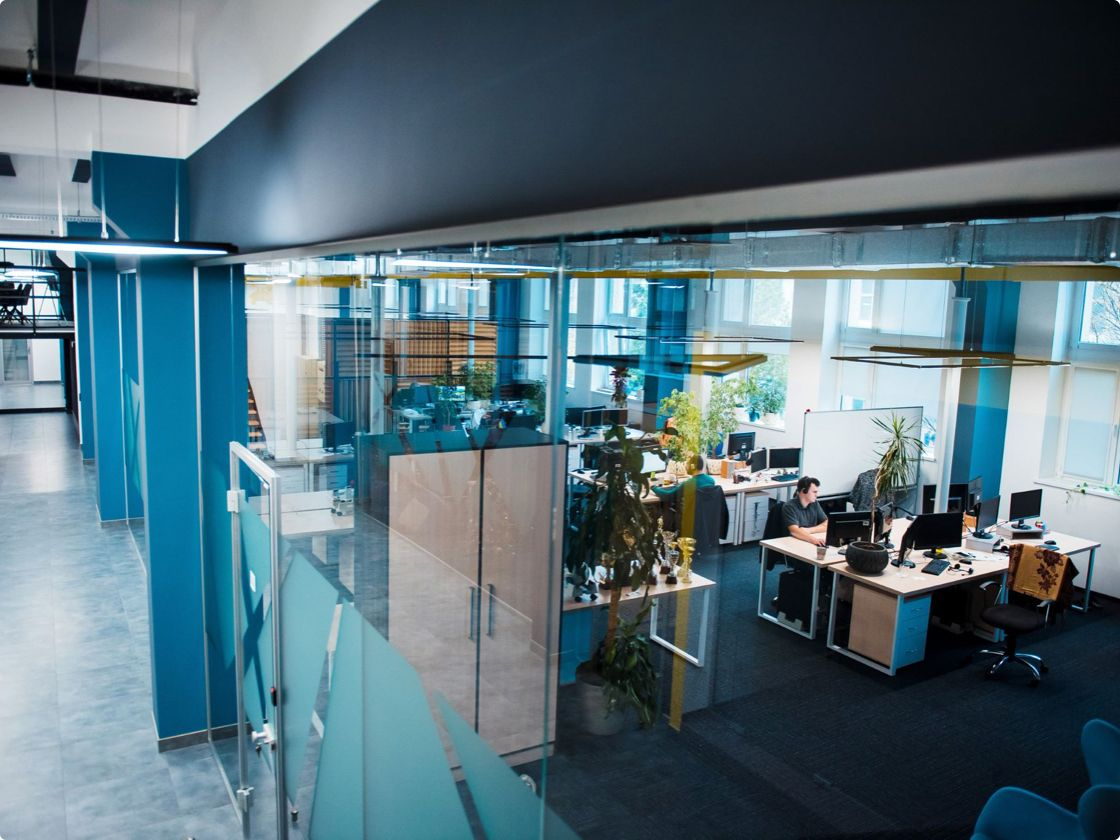 We try to create a healthy work environment where everyday tasks are followed by interesting challenges.